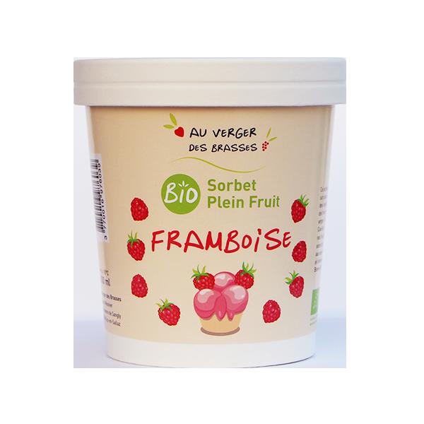 sorbet plein fruits framboise